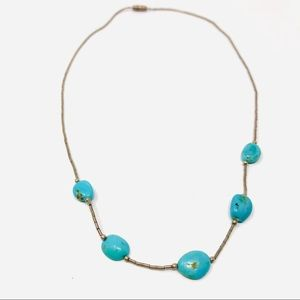 Jewelry - Sterling silver, turquoise necklace